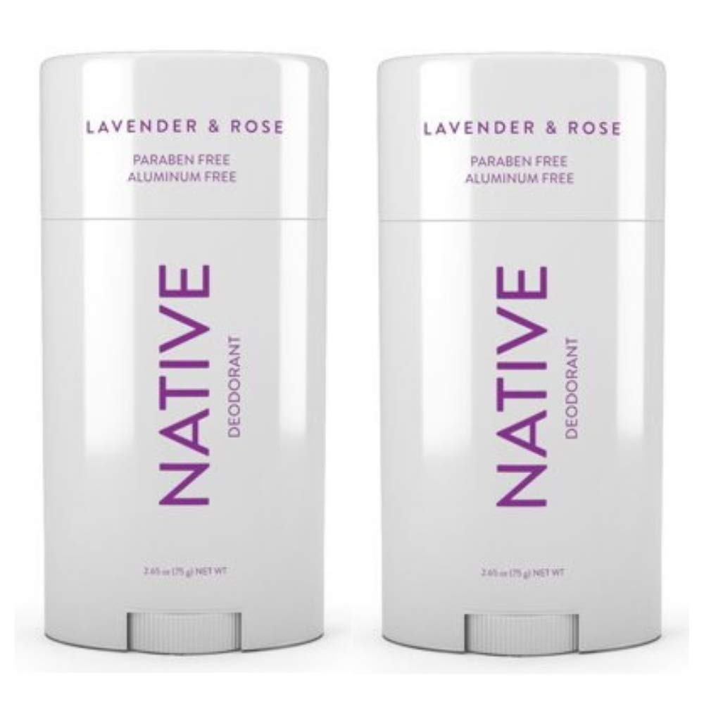 Native Deodorant Lavender & Rose 2.65oz (Lavander, 2 pack)