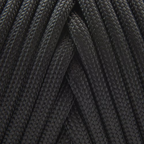 TOUGH-GRID 550lb Black Paracord/Parachute Cord - 100% Nylon Genuine Mil-Spec Type III Paracord Used by The US Military - Great for Bracelets and Lanyards - Made in The USA. 1000Ft. - Black by TOUGH-GRID (Image #2)