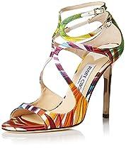 Jimmy Choo Women's Lang Sandal, Multi/Patent, 36 M EU/6 M US