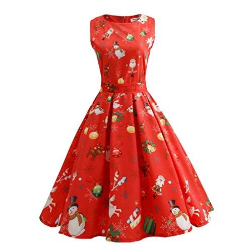 Bekleidung Vovotrade Beliebte Frauen Weihnachten Print Pin Up Swing ...