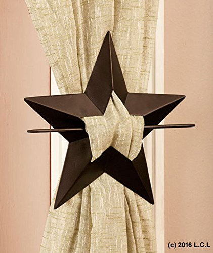Unbranded Unbranded Set 2 Metal Star Curtain Tie Backs
