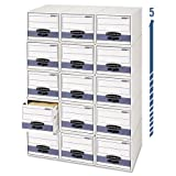Bankers Box - Stor/Drawer Steel Plus Storage Box, Wire, 5 x 8, White/Blue, 12/Ctn 00306 (DMi CT