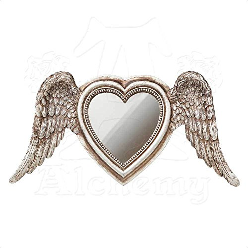 Alchemy Gothic Antique Gold Winged Heart Mirror ()