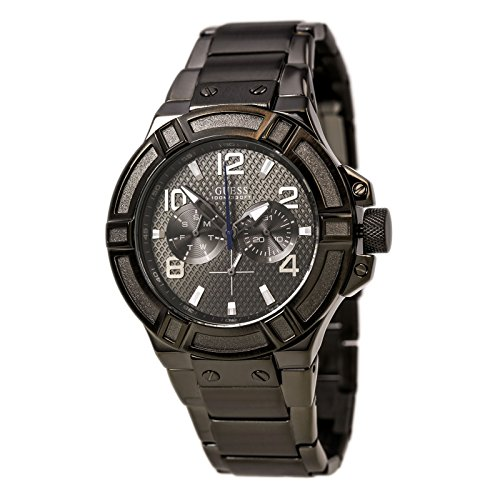 GUESS-Mens-U0218G1-Gunmetal-Rigor-Multi-Function-Standout-Sport-Watch