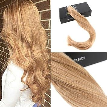 Sunny Karamell Blond 27 Echthaar Tape On Extensions 20pcs50g Remy