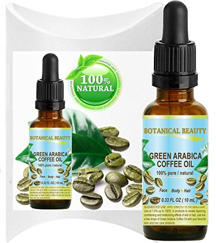 GREEN ARABICA COFFEE OIL Brazilian. 0.33 Fl.oz- 10 ml. 100% Abstract / Premium Quality. For Skin, Hair, Lip and Nail Care.