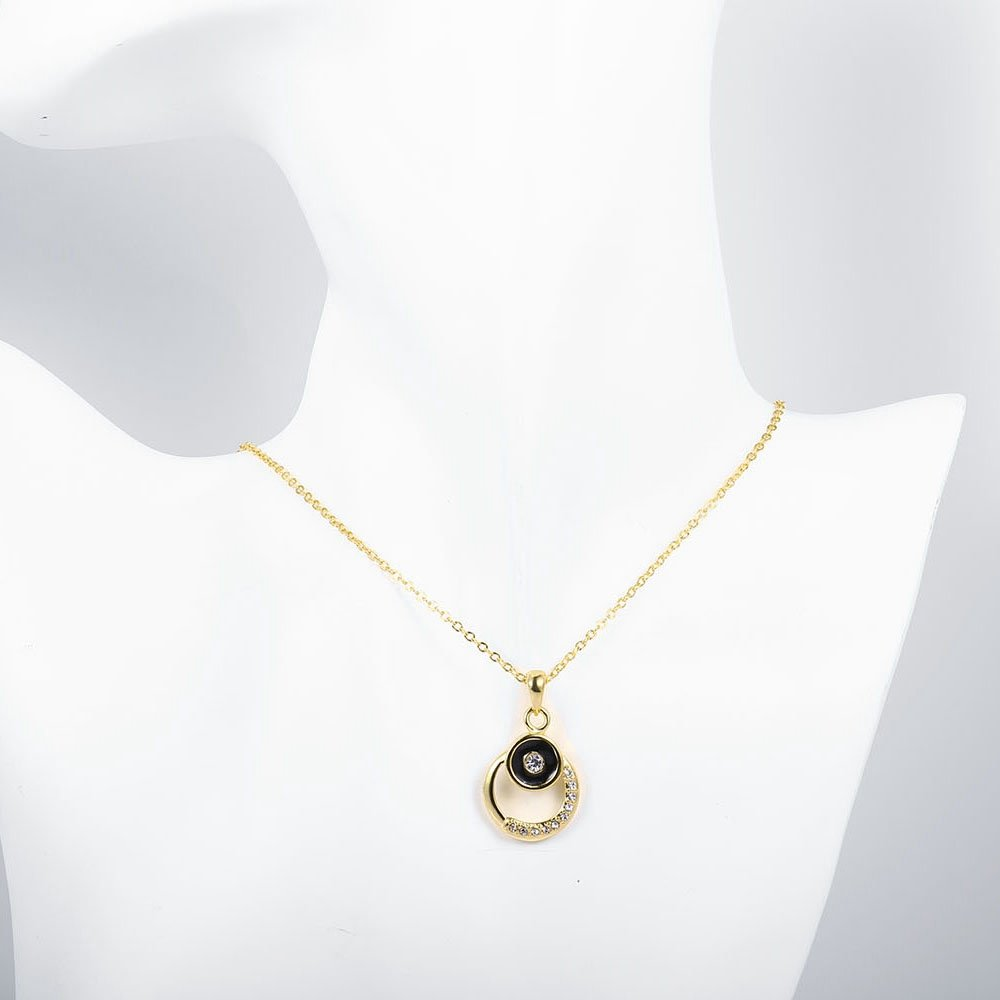 KopooaP Gold Necklaces Pendant Jewelry Birthday Gifts Presents Gemstone for Women Anniversary Zirconia Crystal