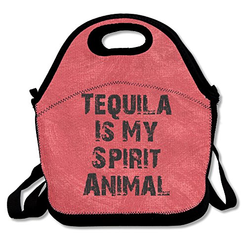 Tequila Is My Spirit Animal Insulated Reusable Lunch Bags Boxes Lunch Tote