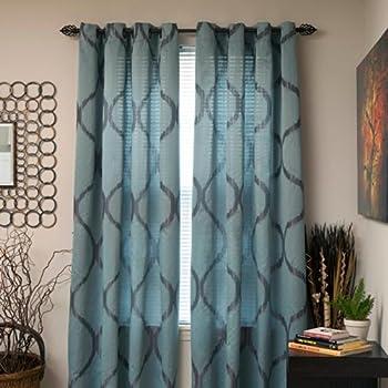 Amazon Com Lavish Home Metallic Grommet Curtain Panels