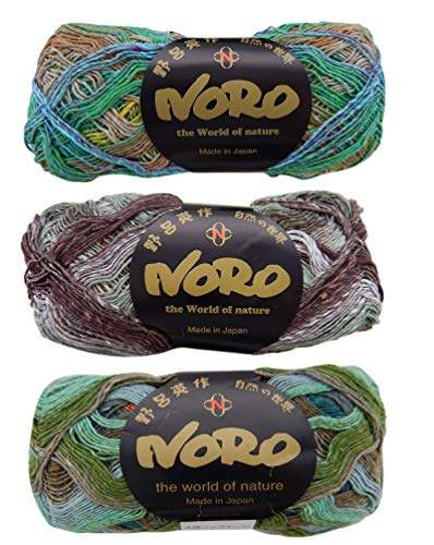 Taiyo Self-Striping Sock Yarn Bundle 3-Pack Cotton Wool Polyamid Silk Blend (Self Striping Wool Yarn)