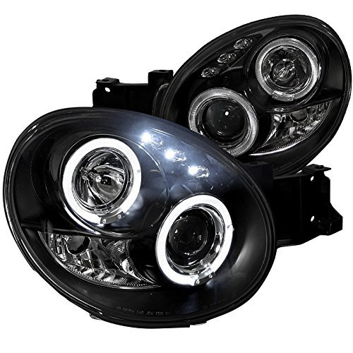 Spec-D Tuning LHP-WRX02JM-TM Subaru Impreza Led Halo Black Projector Head Lights ()