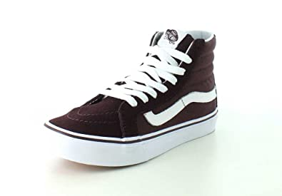 de01040534 Vans Womens SK8-Hi Slim Iron Brown True White Sneaker - 6.5
