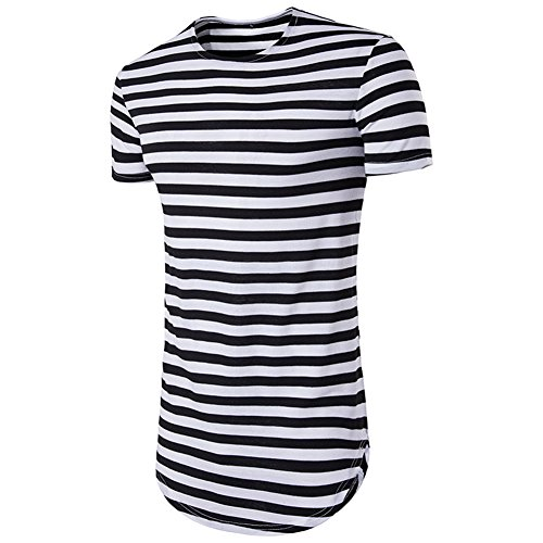 Norbi Parent-Child Striped Shirt Dress Family Clothes Outfits (M, Dad T Shirt) by Norbi