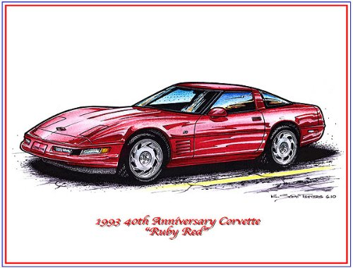 - 1993 40th Anniversary Special Edition Corvette