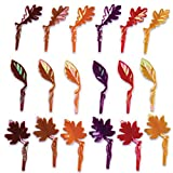Oasis Supply Fall Leaves Iridescent Puffy Cupcake/Cake Decorating Picks, 2 1/4-Inch, Set of 12