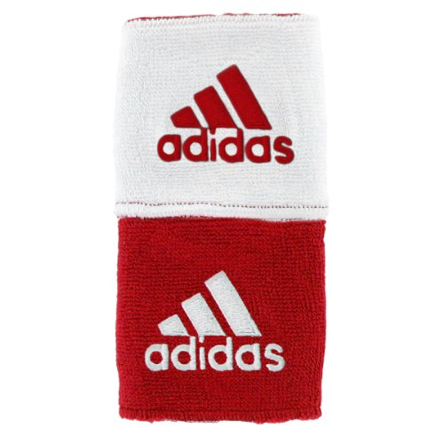 adidas Interval Reversible Wristband, University Red/White / White/University Red, One Size Fits All