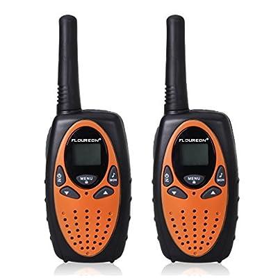Floureon Kids Twin Walkie Talkies 2 Way Radios 22 Channel 3KM(1.9MI) Interphone Auto Scan with LCD Backlit Display