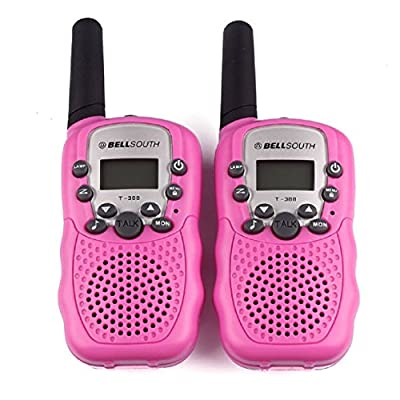 Ularmo 1 Pair Two-Way Radio Intercom Wireless Talkie and Walkie Eight Channels 5KM T-388 Interphone(Pink)