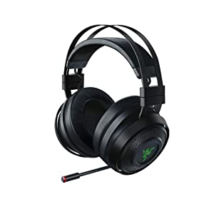 Razer Nari Ultimate Wireless 7.1 Surround Sound Gaming Headset: THX Audio & Haptic Feedback - Auto-Adjust Headband - Chroma RGB - Retractable Mic - For PC, PS4, Xbox One - Black