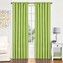 Eclipse 10707042X084LIM Kendall 42-Inch by 84-Inch Thermaback Room Darkening Single Panel, Lime