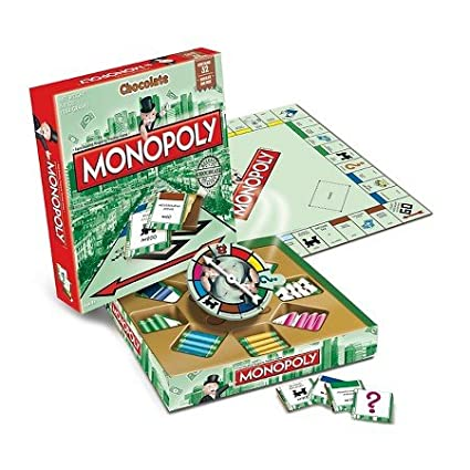 gamesformotion Monopoly Chocolate Edition 5.4oz: Amazon.com ...