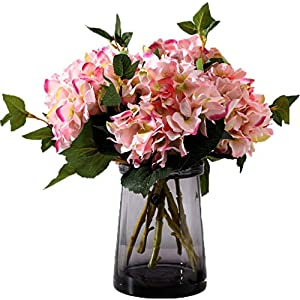Anlise Artificial Hydrangea Flowers Fake California Hydrangea Silk Bouquet Flower for Home Wedding Decor, Pack of 4 116
