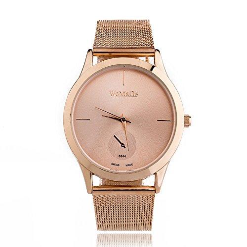 Unisex Watch for Minimalist Style Wrist Watch Alloy Belt Watch with Analog Milanese Mesh Band (C) ()