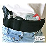 Crotch Pocket Brand American-made Belly Band or Women's Dress/Skirt Leg Thigh Gun Holster AND Belly Band Combo. Get both for 1 low price!