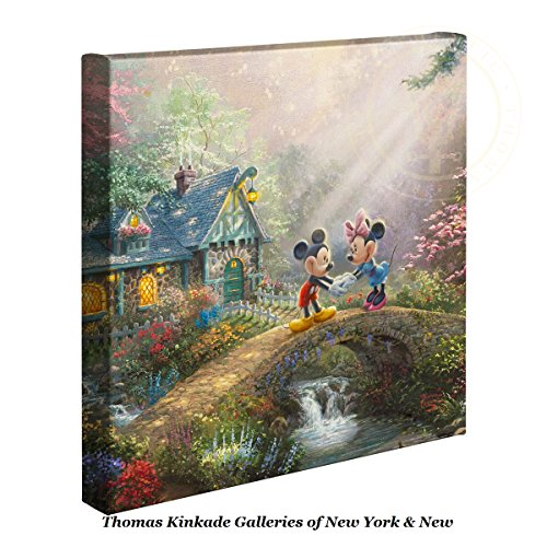 Thomas Kinkade Disney Sweetheart Bridge - Nature Wall Art