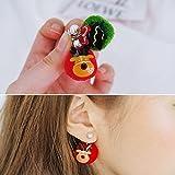 usongs imports Dongdaemun 2018 autumn and winter elegant women girls models pearl earrings Christmas elements plush fur balls