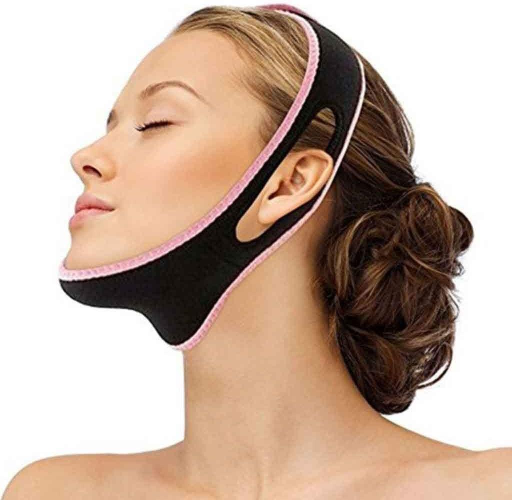 Cara V Talla Facial Adelgazamiento Vendaje Relajación Levantar la Forma de la Correa Levantar Reducir la Barbilla Doble Mascarilla Facial Thining