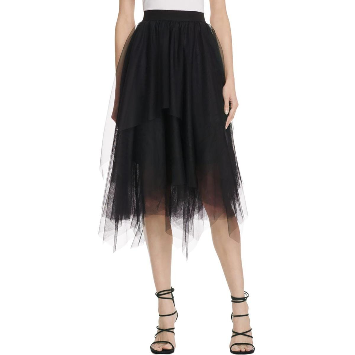 Bailey 44 Womens Tiered Asymmetric A-Line Skirt Black XS by Bailey 44