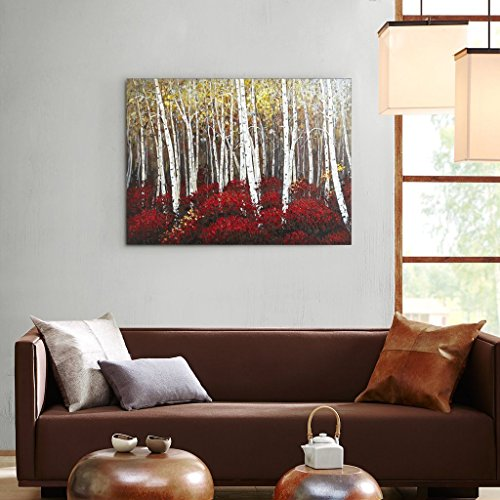 UAC WALL ARTS Watercolor Woods Hand Painted Canvas Wall Art for Home Wall Decor by UAC WALL ARTS (Image #4)