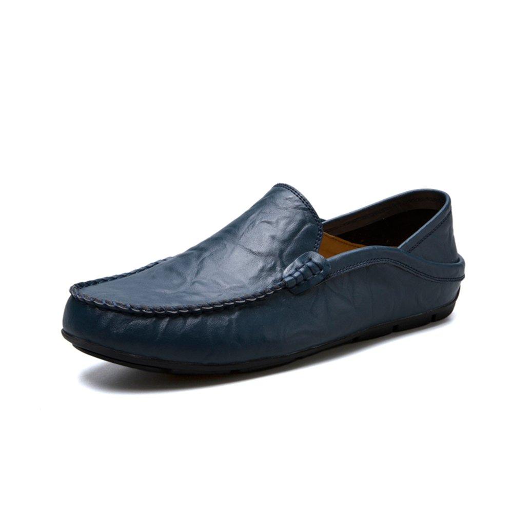 Slip de holgazán de Moda de tacón Plano de Hombre en Zapatos de Ocio 42 EU|Azul