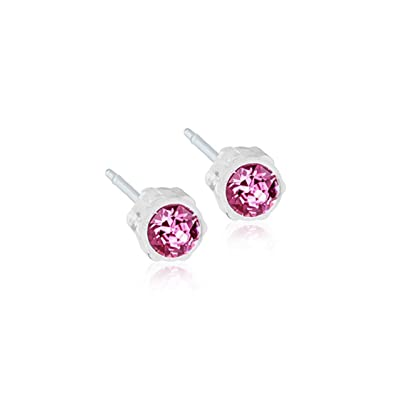 04c9fa11d Image Unavailable. Image not available for. Color: Blomdahl Medical Plastic  Earrings ...
