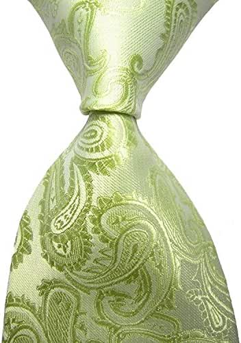 BUYEONLINE Men's Jacquard Paisley Ties