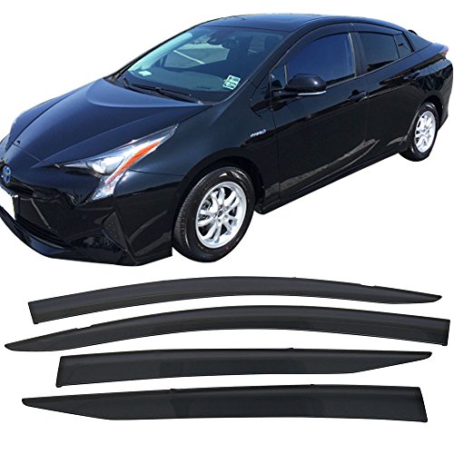 16-2017 Toyota Prius | Injection PC Window Visor Rain Guard Shade by IKON MOTORSPORTS ()
