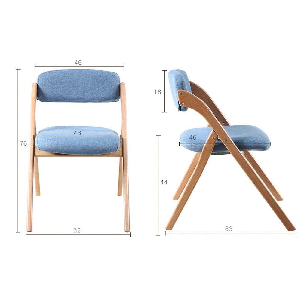 XUE Folding Folding Folding Chair, Backrest Chair, Washable Dining