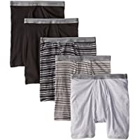 Hanes Men's 5-Pack FreshIQ Assorted Striped Boxer Briefs