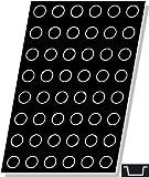 Flexipan, Mini Cylinder 0.84 Oz, 40mm Diam x 20mm Deep (1-9/16'' Dia x 3/4'' Deep), 48 Cavities