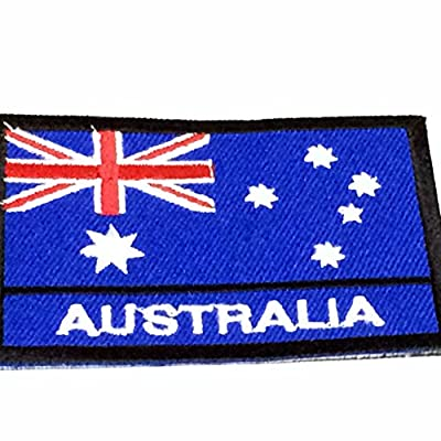 Nation Country Flags Patches Australia Emblem Logo 2 x 2.8 Inches Sew On Embroidered Patches National Aussie Decorative Applique Embroidery Designs For t shirt Jersey Hoodie Hat Backpacks etc