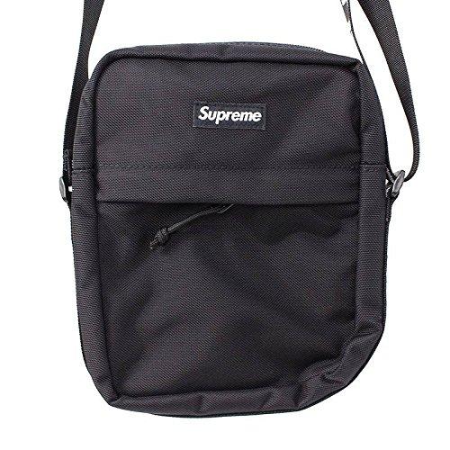 (シュプリーム) SUPREME 【18SS】【Shoulder Bag】ボックスロゴナイロンショルダーバッグ(ブラック) 中古 B07FQB7HR2