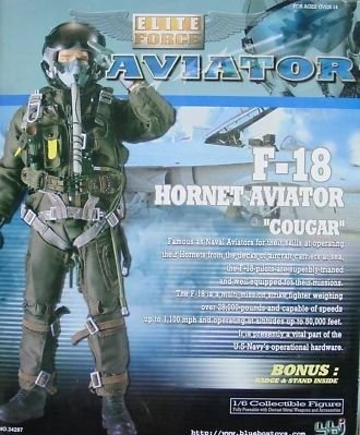"Elite Force F-18 Hornet Aviator Pilot ""Cougar"" 12"" 1/6th Sca"