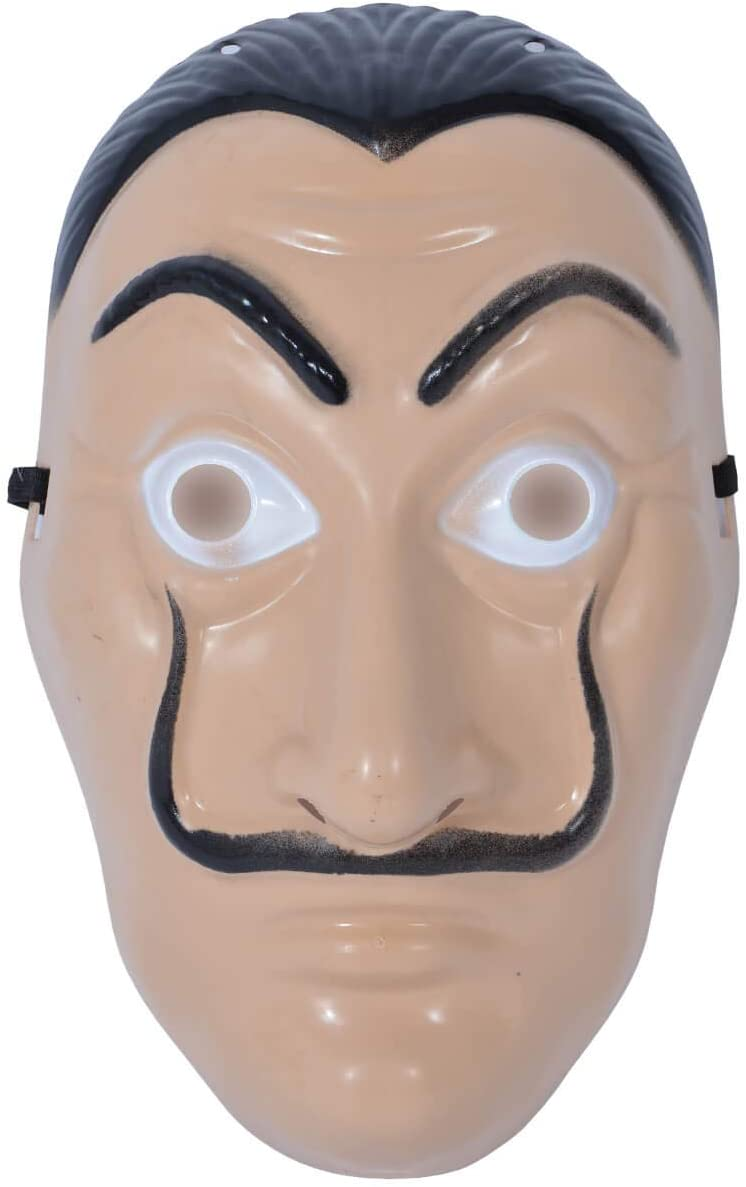 MAS-20 Salvador Dali Mask Casa de Papel One Size for Adults and Teenagers Carnival Halloween Theme Party Accessory Money Heist Mask