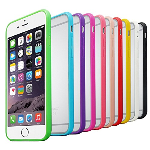 iPhone 6 Case, 10 Pack Besgoods iPhone 6S Cover Clear case Protective Colorful Slim Shell Scratch-Proof Premium Clear Hard Back Case with Soft Gel Bumper Protection Cover Skin Shell for iPhone 6/6s