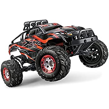Tecesy 1/12 Scale 4x4 Brushless RC Monster Truck with 2.4GHz Remote Control (Red), Ready to Run, with 2838 4500kv Brushless Motor