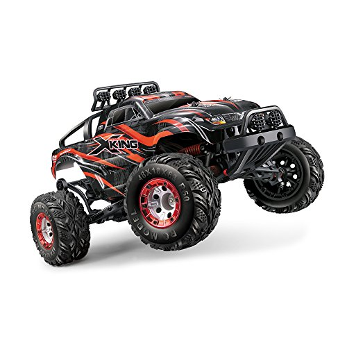 Tecesy 1/12 Scale 4x4 Brushless RC Monster Truck with 2.4GHz Remote Control (Red), Ready to Run, with 2838 4500kv Brushless (Crawler Brushless System)