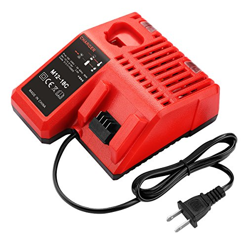 Rapid Charger Voltage (Powilling M12 & M18 Rapid Replacement Charger Milwaukee 12V&18V XC Lithium Ion Charger for Milwaukee XC Battery)
