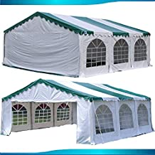 DELTA Canopies Budget PVC Party Tent Canopy Shelter 20'x20' - Green White
