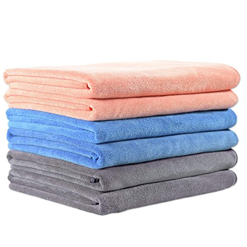 JML Microfiber Towels, Bath Towel Sets (6 Pack, 27